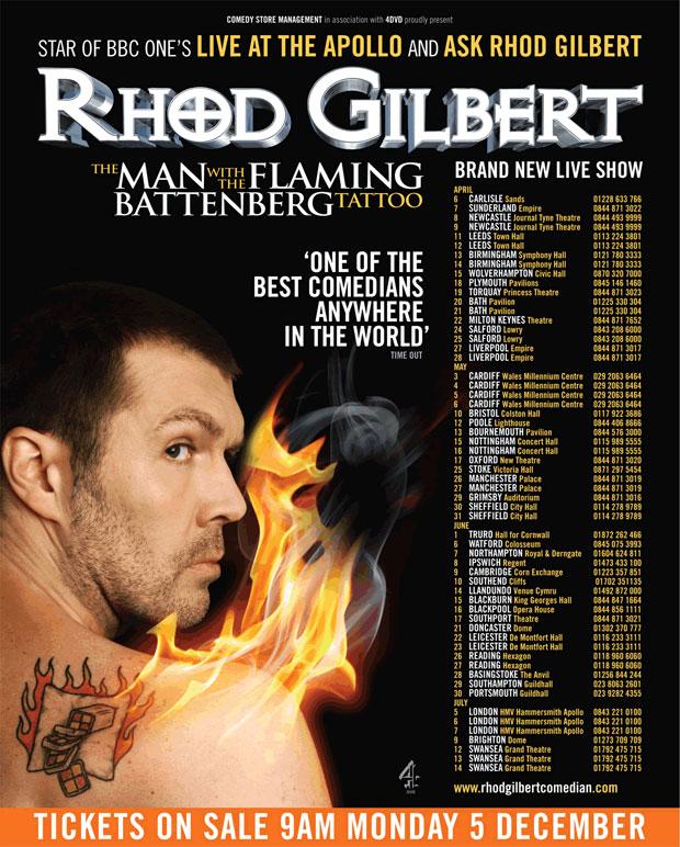 Rhod Gilbert Tour